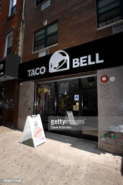An exterior view of the Broadway Taco Bell Cantina on July 11 2018 in the Brooklyn borough of New York City