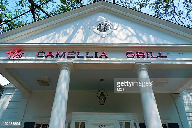 An exterior view of The Camilla Grill is seen in New Orleans Louisiana