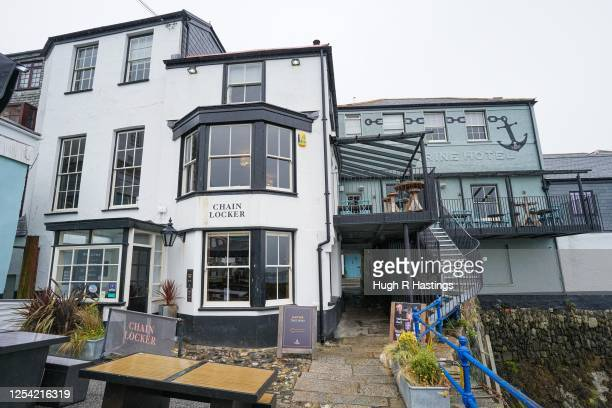An exterior view of the Chain Locker pub on July 4 2020 in Falmouth Cornwall United Kingdom The UK Government announced that Pubs Hotels and...