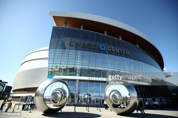 An exterior view of the Chase Center before the Golden State Warriors game against the Los Angeles Lakers on October 05, 2019 in San Francisco,...