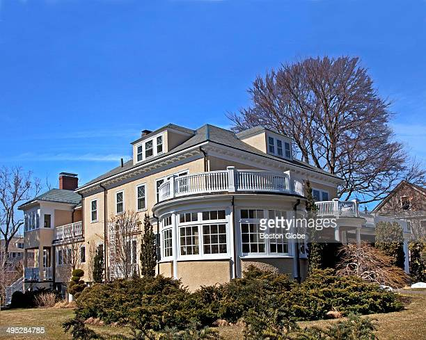 An exterior view of the conservatory of the former home of Charles Ponzi The house is for sale