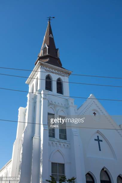 An exterior view of the Emanuel AME Church in Charleston South Carolina the church is the oldest African Methodist Episcopal church in the south and...