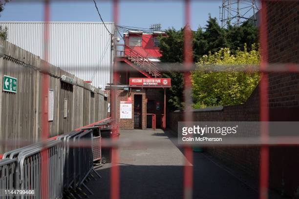 An exterior view of the entrance to the Brook Road stand pictured before Brentford hosted Leeds United in an EFL Championship match at Griffin Park....