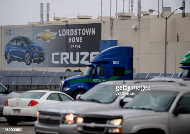 An exterior view of the GM Lordstown Plant on November 26 2018 in Lordstown Ohio GM said it would end production at five North American plants...