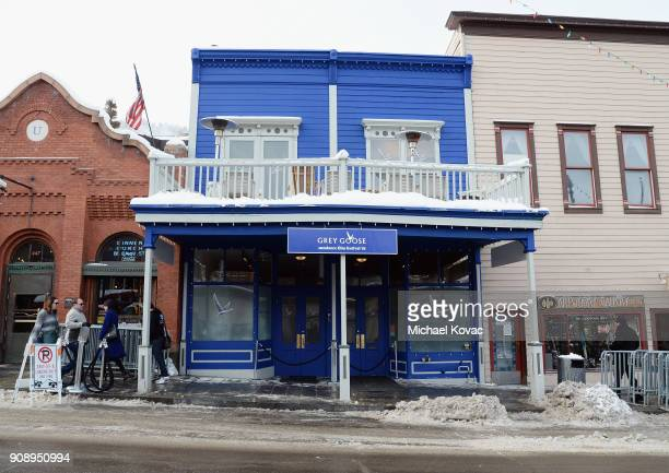 An exterior view of The Grey Goose Blue Door as Grey Goose Blue Door hosts the casts of gamechanging films during the Sundance Film Festival at The...