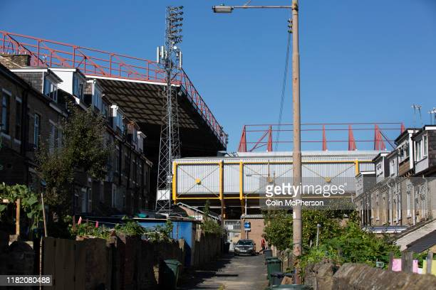 An exterior view of the ground before Bradford City played Carlisle United in a Skybet League 2 fixture at Valley Parade The home team were looking...