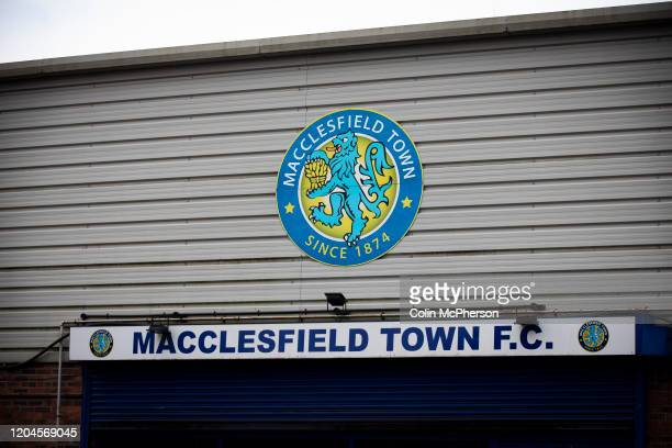 An exterior view of the ground before Macclesfield Town played Grimsby Town in a SkyBet League 2 fixture at Moss Rose. The home club had suffered...