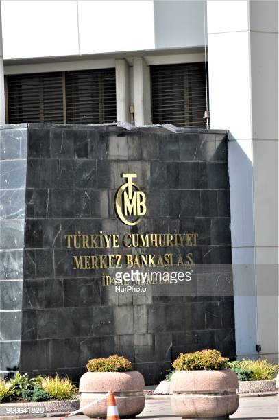 An exterior view of the head office of the Central Bank of the Republic of Turkey is pictured in Ankara on May 27 2018