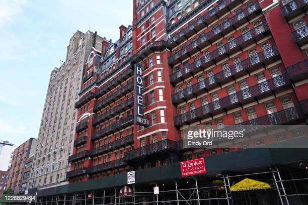 An exterior view of the Hotel Chelsea during the coronavirus pandemic on May 24, 2020 in New York City. COVID-19 has spread to most countries around...