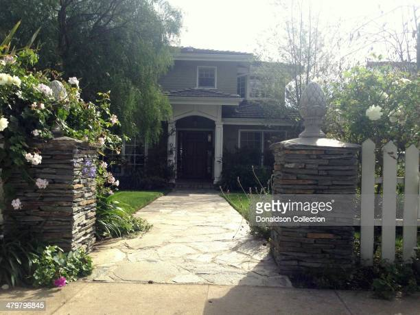 An exterior view of the house which Claire and Phil Dunphy live in on the ABC TV show 'Modern Family' on March 20 2014 in Los Angeles California The...
