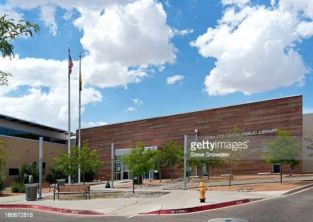 An exterior view of the Loma Colorado Library in Rio Rancho New Mexico on September 2 2013 The library was used as Mesa Credit Union in the Breaking...