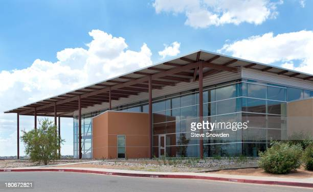 An exterior view of the Loma Colorado Library in Rio Rancho New Mexico on September 2 2013 The library was used as Mesa Credit Union in the 'Breaking...
