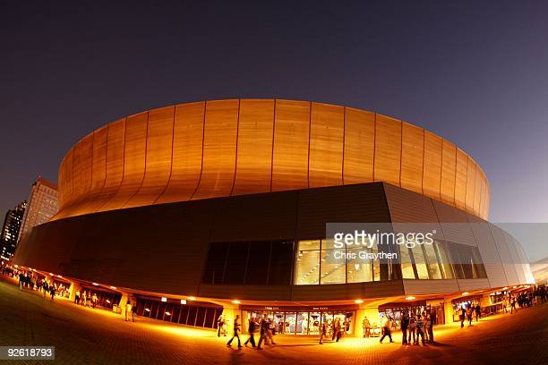 An exterior view of the Louisiana Superdome is seen before the start of the game between the New Orleans Saints and the Atlanta Falcons on November 2...