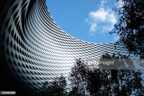 An exterior view of the Messeplatz Halle venue of the BaselWorld watch fair on March 21 2018 in Basel Switzerland The annual watch trade fair sees...