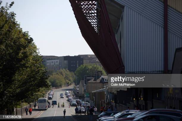 An exterior view of the Midland Road side of the ground before Bradford City played Carlisle United in a Skybet League 2 fixture at Valley Parade The...