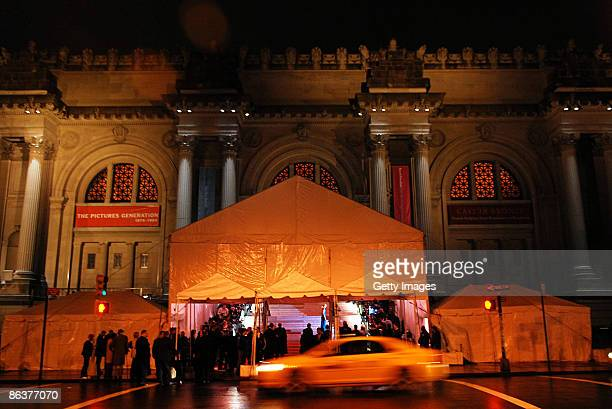 An exterior view of The Model as Muse Embodying Fashion Costume Institute Gala at The Metropolitan Museum of Art on May 4 2009 in New York City