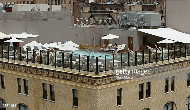 An exterior view of the new celebrity hotspot SoHo House is shown August 6 2003 in the meatpacking district of Manhattan New York City