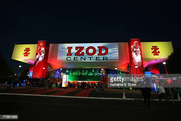An exterior view of the new IZOD CENTER before opening night October 31 2007 at the IZOD Center in East Rutherford New Jersey NOTE TO USER User...