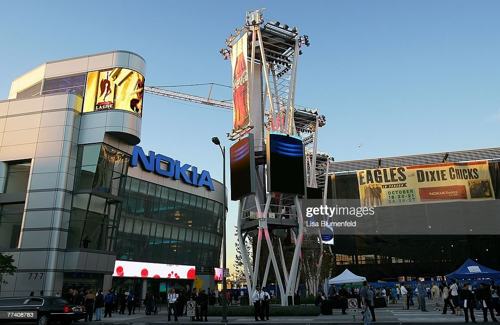 An exterior view of the new NOKIA Theatre on October 18, 2007 in Los Angeles, California.
