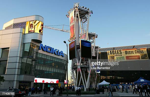 An exterior view of the new NOKIA Theatre on October 18 2007 in Los Angeles California