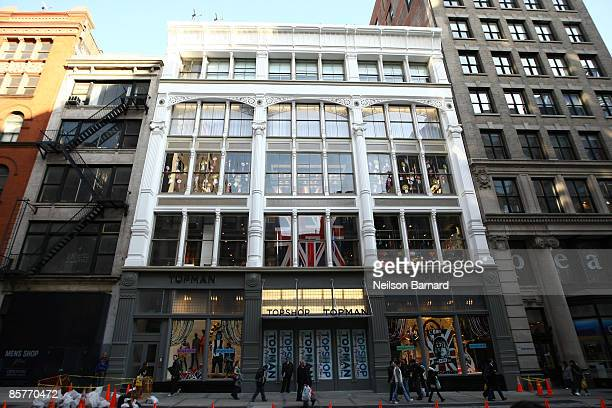 An exterior view of the new Topshop store March 31 2009 in New York City