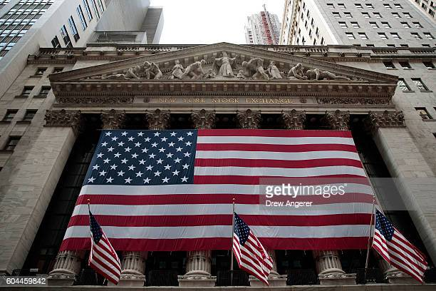 An exterior view of the New York Stock Exchange September 13 2016 in New York City The Dow Jones industrial average fell 258 points on Tuesday