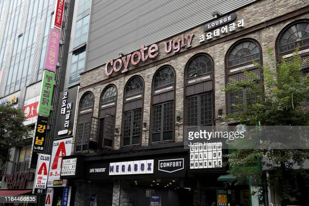 An exterior view of the nightclub Coyote Ugly on July 27 2019 in Gwangju South Korea Two people were killed with at least ten injured including some...