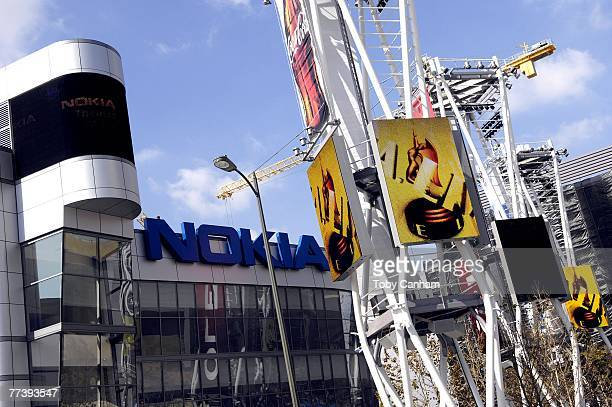 An exterior view of the Nokia Theatre LA live on October 17 in Los Angeles California