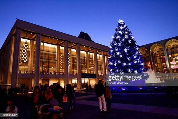 An exterior view of the Nutcracker Benefit presented by the New York City Ballet and the School of American Ballet at the New York State Theater...