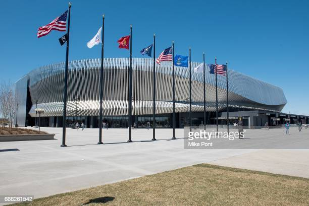 An exterior view of the NYCB LIVE Nassau Veterans Memorial Coliseum on April 8, 2017 in Uniondale, New York.