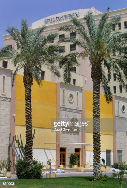 An exterior view of the Oasis Casino and Intercontinental Hotel in the West Bank town of Jericho May 3 some seven months after it was forced to close...