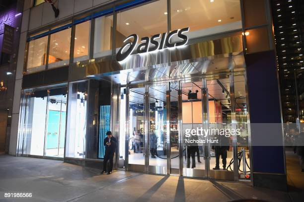 An exterior view of the Opening Cocktail Event for ASICS Flagship Store on December 13, 2017 in New York City.
