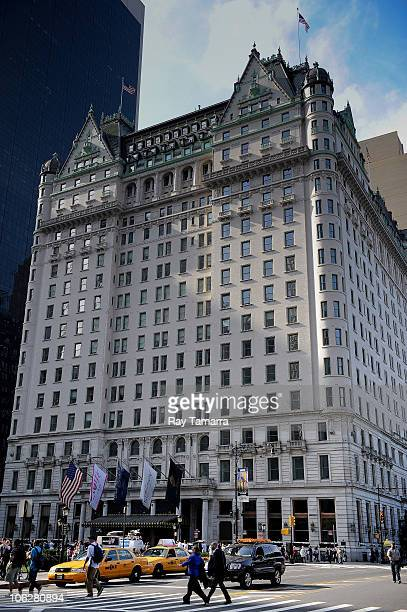 An exterior view of the Plaza Hotel where Charlie Sheen was reportedly staying prior to being hospitalized on October 26 2010 in New York City