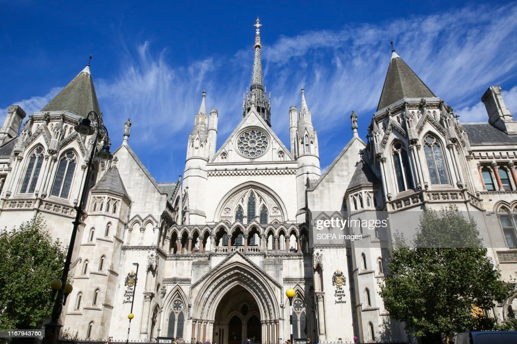 An exterior view of the Royal Courts of Justice in London. : News Photo