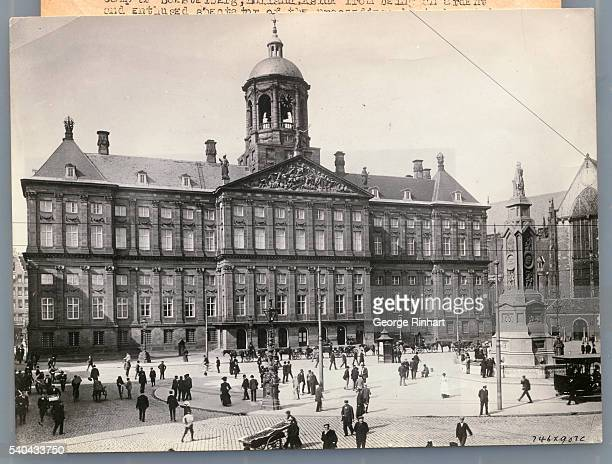 An exterior view of the Royal Palace in Amsterdam.