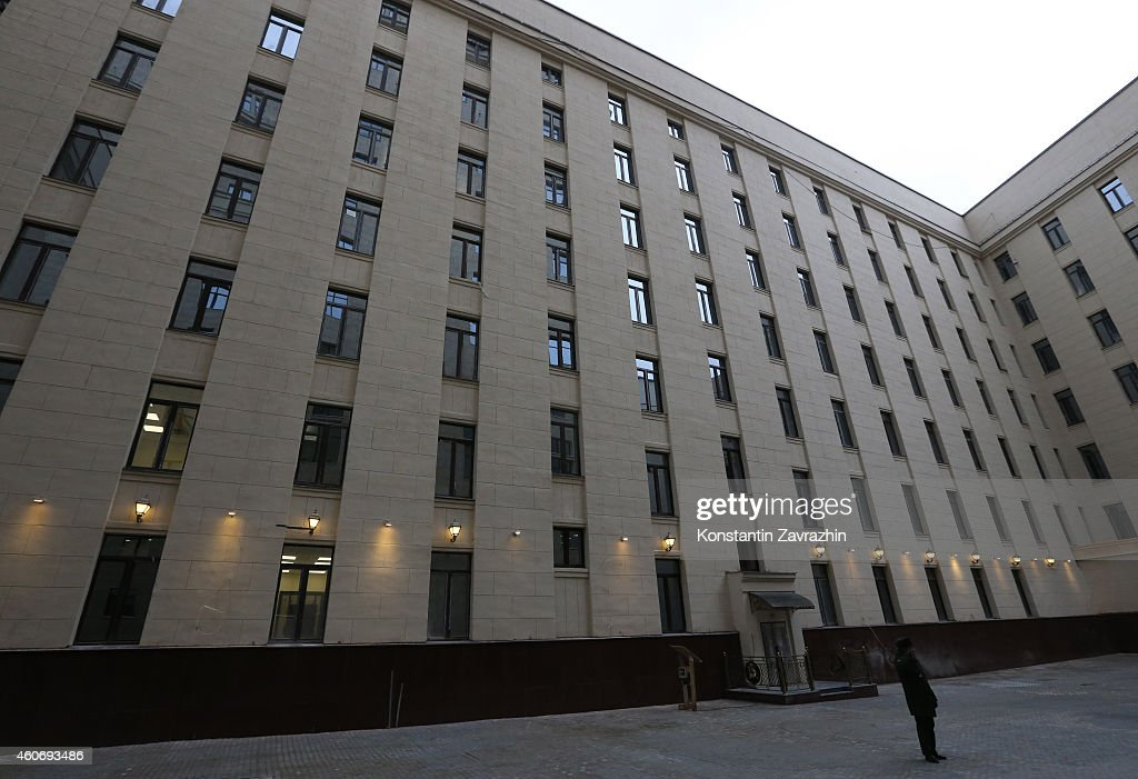 An exterior view of the Russian Defence Ministry's newly built control room on December,19, 2014 in Moscow, Russia. Vladimir Putin held a meeting with senior military officials in the National Defence Control Center today, to discuss plans to modernize the Russian military, including emphasis on strategic nuclear forces.