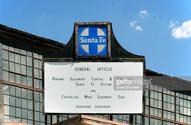 An exterior view of the Santa Fe Railroad Centralized Work Equipment Shop on July 16 2004 in Albuquerque New Mexico This abandoned facility and the...
