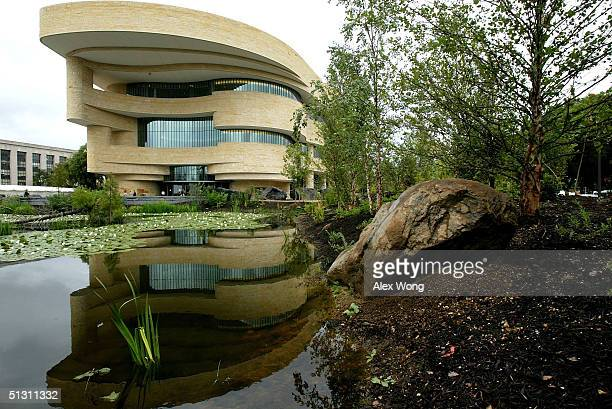 An exterior view of the Smithsonian National Museum of the American Indian is seen September 15, 2004 in Washington, DC. The museum is scheduled to...