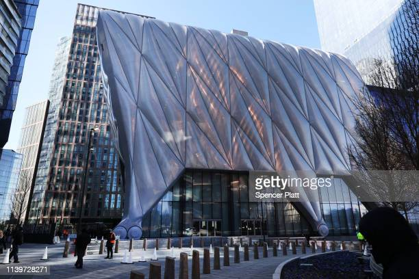 An exterior view of the soon to open new cultural space The Shed in Hudson Yards on April 01 2019 in New York City With an aim to be the world's most...