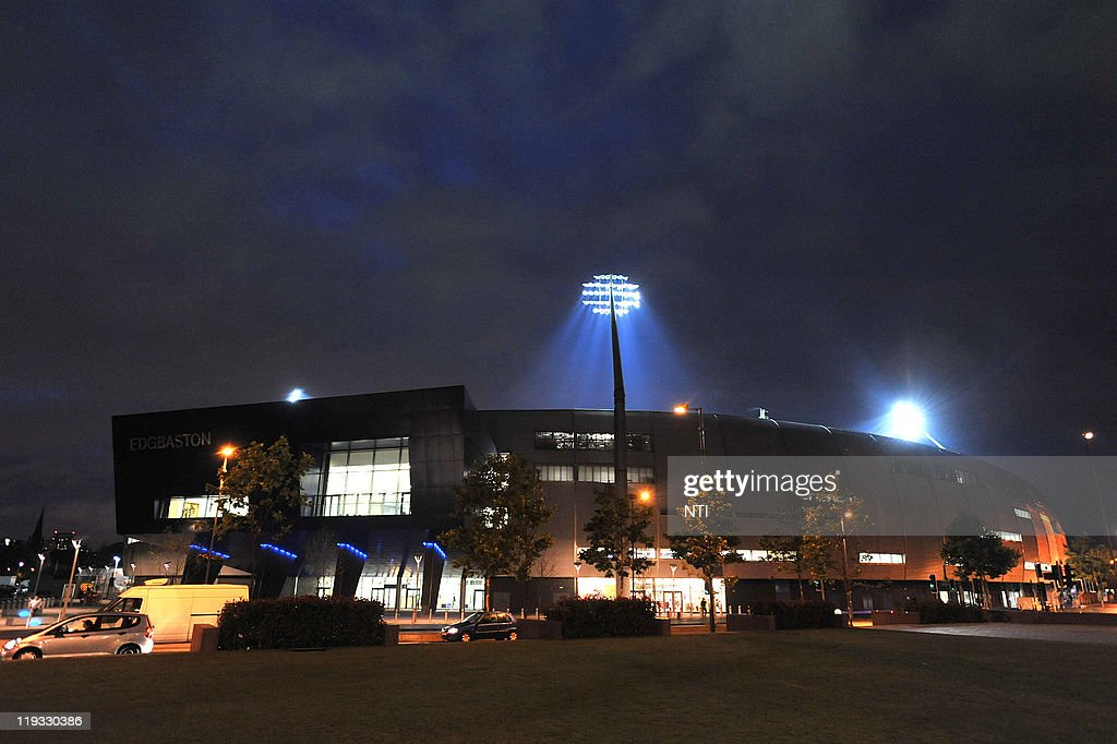 An Exterior View Of The Stadium As Floodlights Illuminate Play During The  Friends Life T20 Match