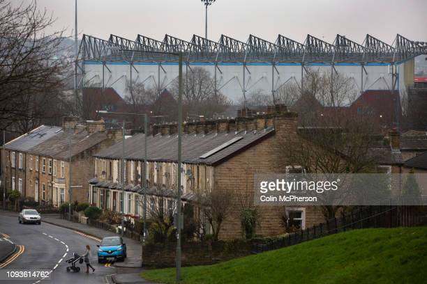 An exterior view of the stadium before Burnley hosted Everton in an English Premier League fixture at Turf Moor Founded in 1882 Burnley played their...