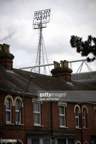 An exterior view of the stadium before Ipswich Town play Oxford United in a SkyBet League One fixture at Portman Road Both teams were in contention...