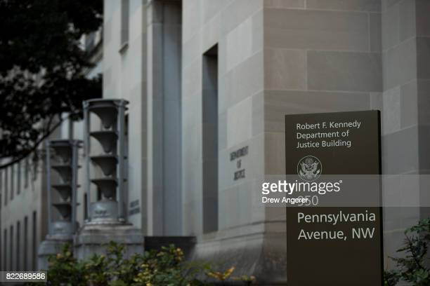 An exterior view of the US Department of Justice headquarters July 25 2017 in Washington DC In recent days President Donald Trump President Trump has...