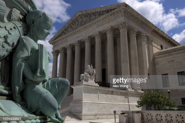 An exterior view of the U.S. Supreme Court building May 12, 2020 in Washington, DC. The Supreme Court is scheduled to hear three cases on whether...