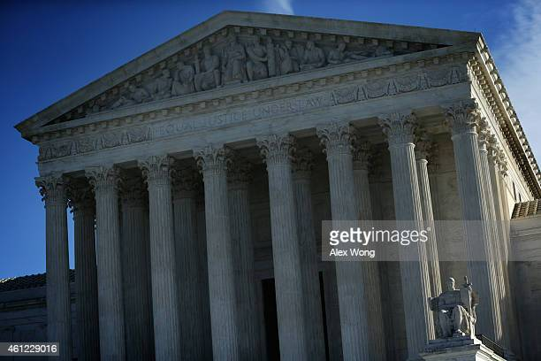 An exterior view of the US Supreme Court January 9 2015 in Washington DC The justices of the Supreme Court were scheduled to meet to determine...