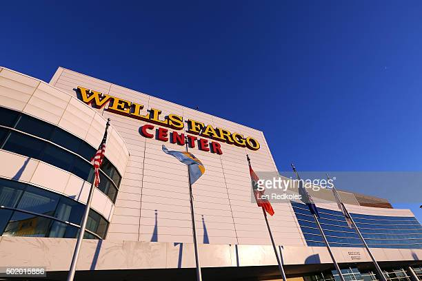 An exterior view of the Wells Fargo Center prior to a NHL game between the Philadelphia Flyers and the Carolina Hurricanes on December 15, 2015 in...