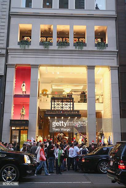 ac577c31c80c An exterior view of Tommy Hilfiger Fifth Avenue Flagship Store as the Soul  Tigers march in