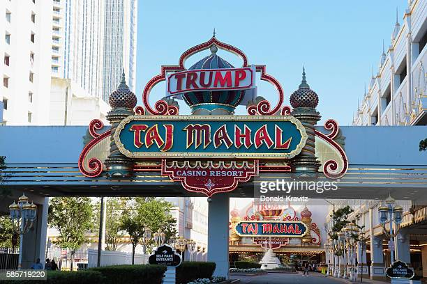 An exterior view of Trump Taj Mahal, still in operation with employees still on strike, on August 3, 2016 in Atlantic City, New Jersey. It was...