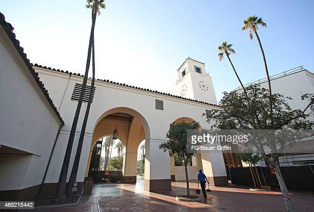 An exterior view of Union Station on Alameda Street on August 22 2015 in Los Angeles California