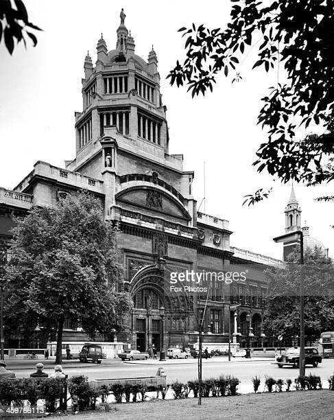An exterior view of Victoria and Albert Museum at Kensington in London, England. June 24,1971.